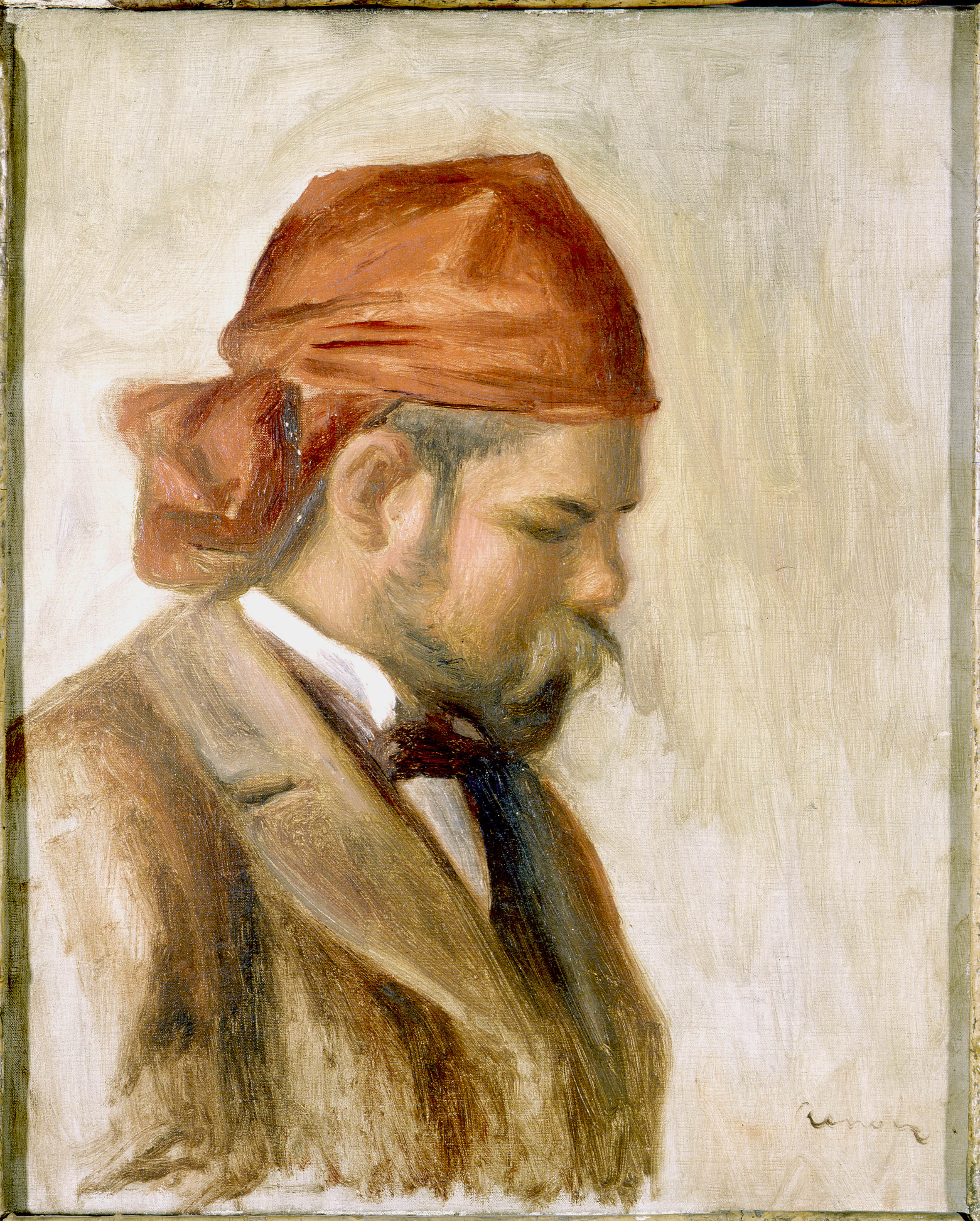 Pierre-Auguste Renoir - Ambroise Vollard in a Red Scarf