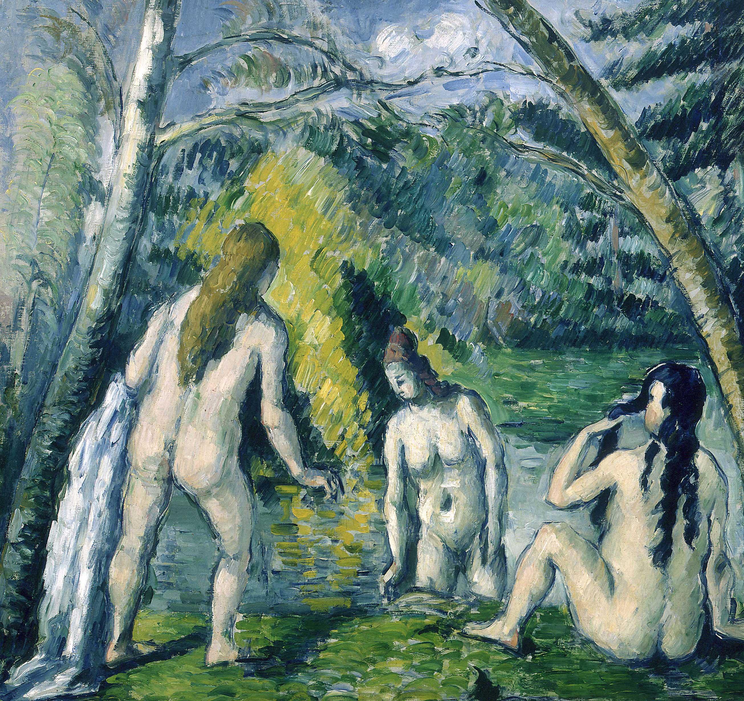 Paul Cézanne - Trois baigneuses
