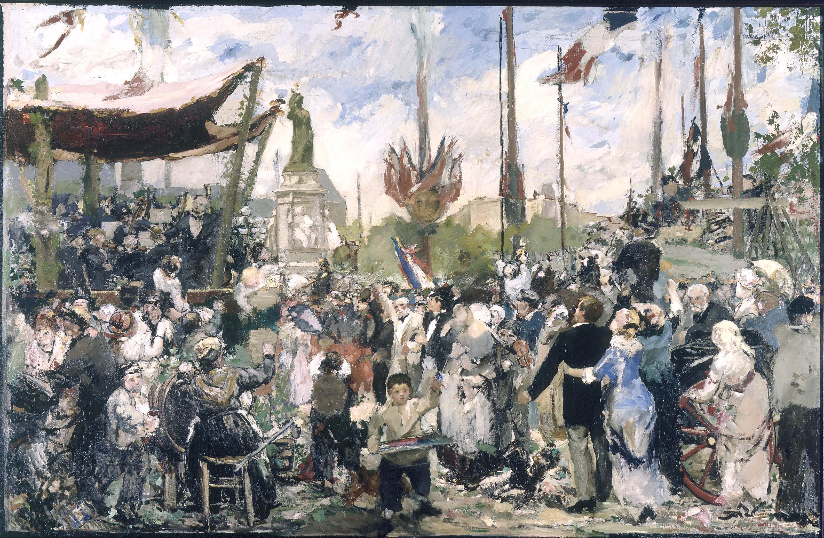 A. P. Roll - Le 14 juillet 1880, inauguration du monument à la République