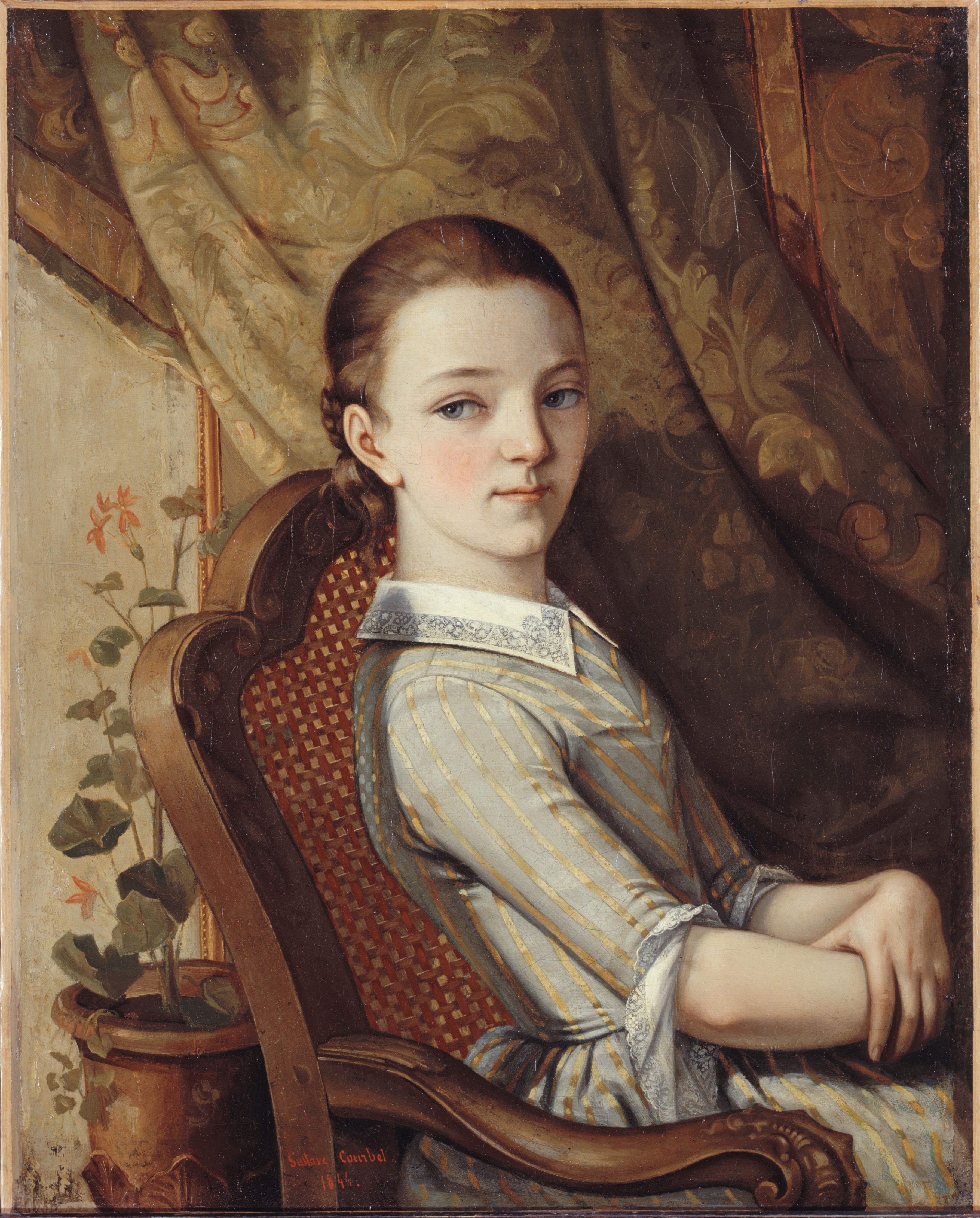 Gustave courbet : Portrait de Juliette Courbet