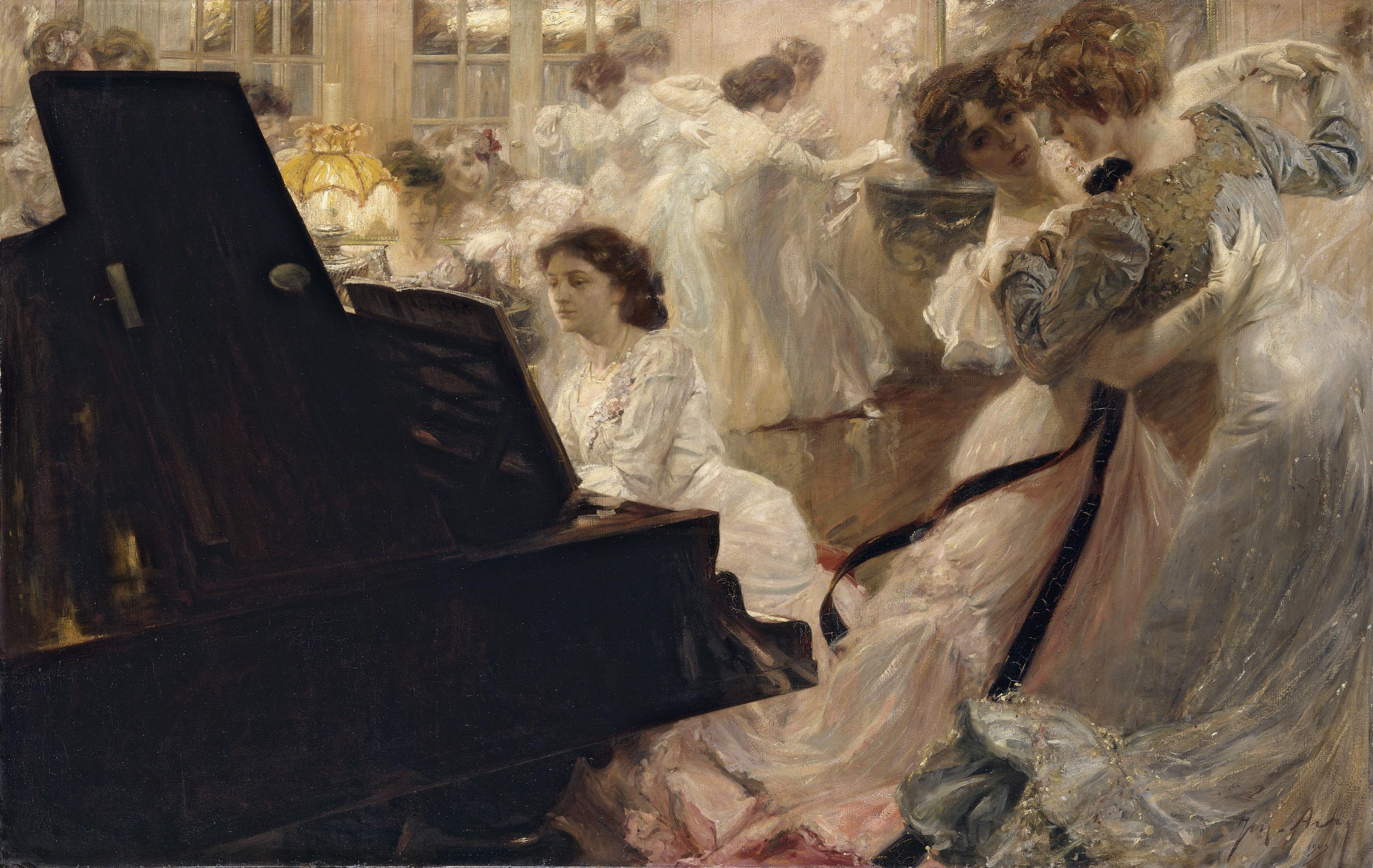 Bal Blanc de Joseph-Marius Avy © Petit Palais / Roger-Viollet