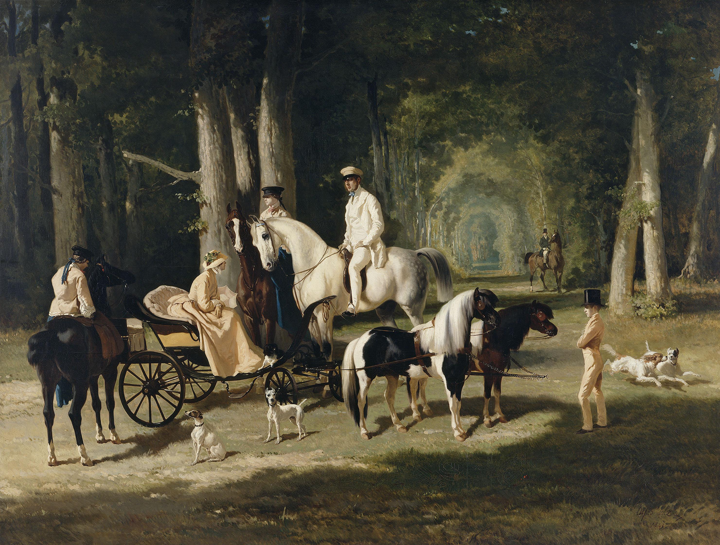De Dreux : Portrait de Monsieur et Madame Mosselman et de leurs deux filles