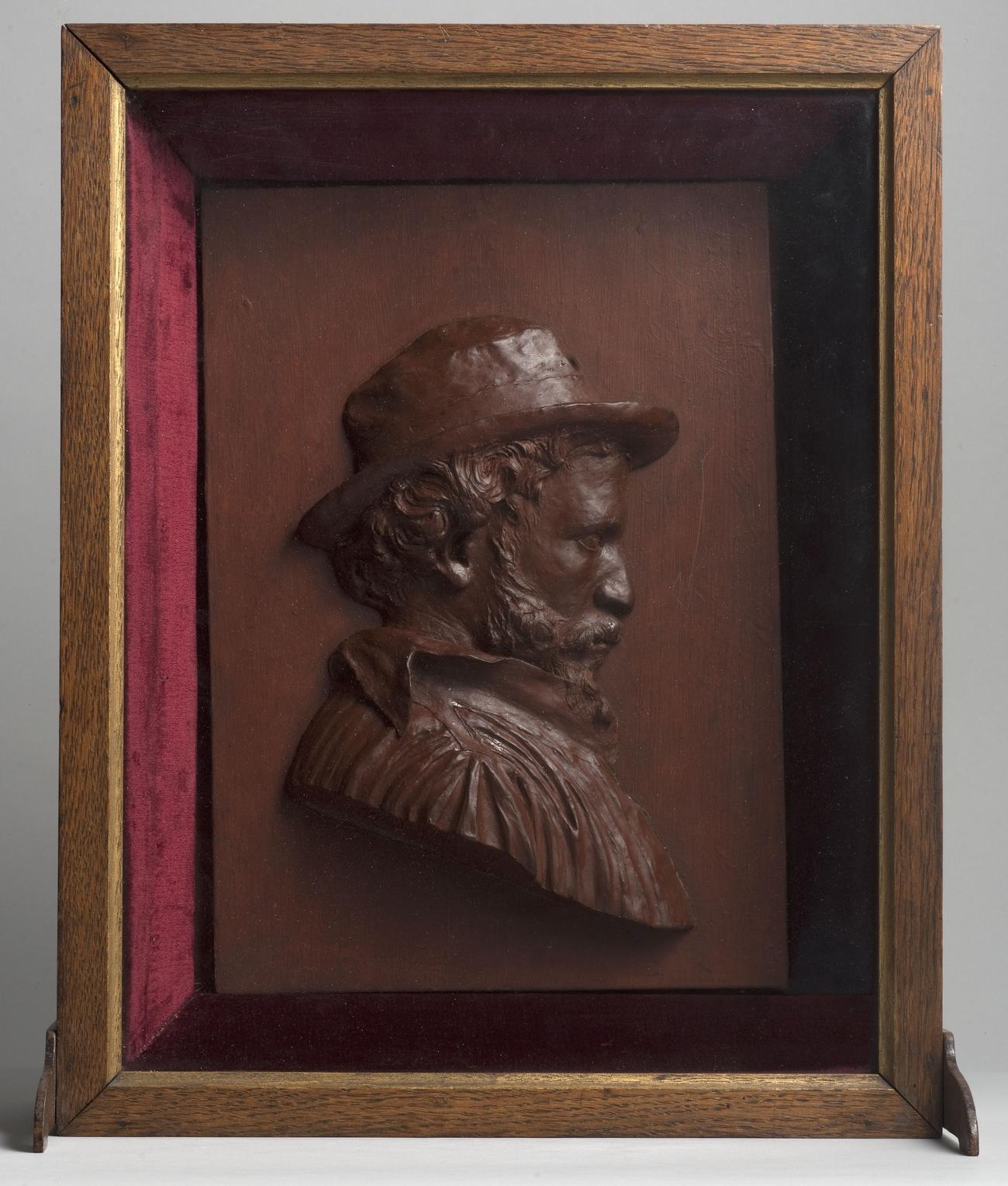 Émile Grittel - Portrait de Carriès (de profil, à droite)