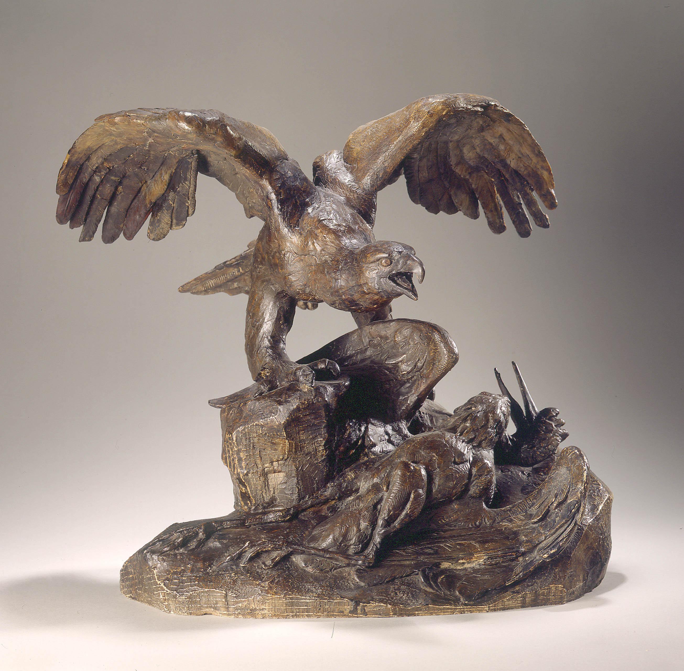 Antoine Louis - Aigle tenant un héron