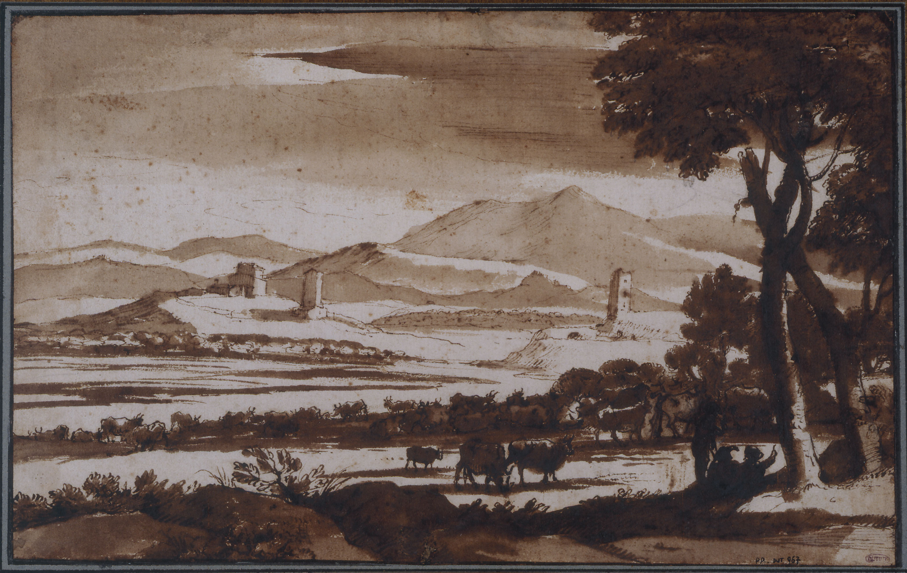 Le Lorrain - Landscape of the Roman Campagna seen from the Prato Longo