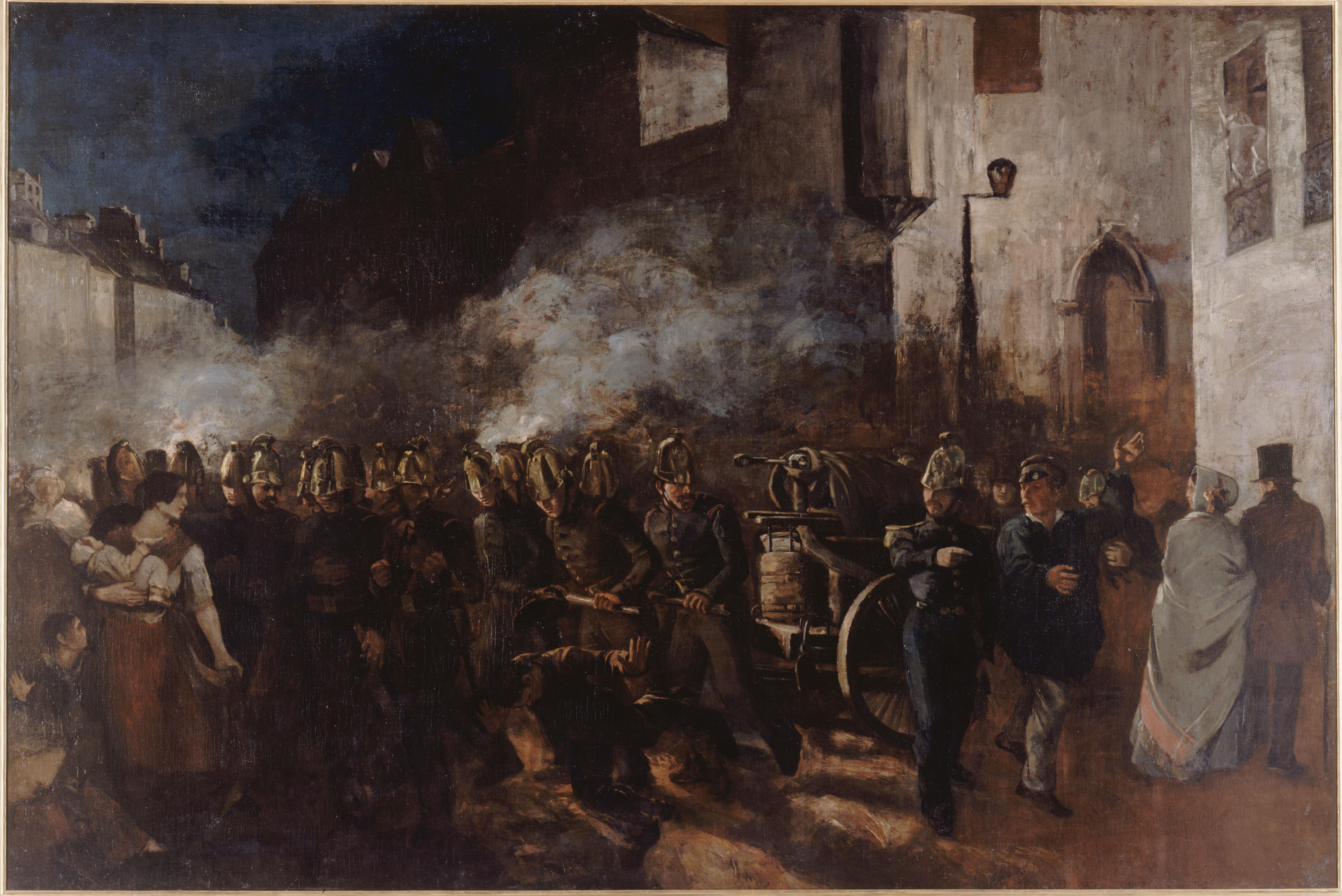 Pompiers Courant A Un Incendie Petit Palais