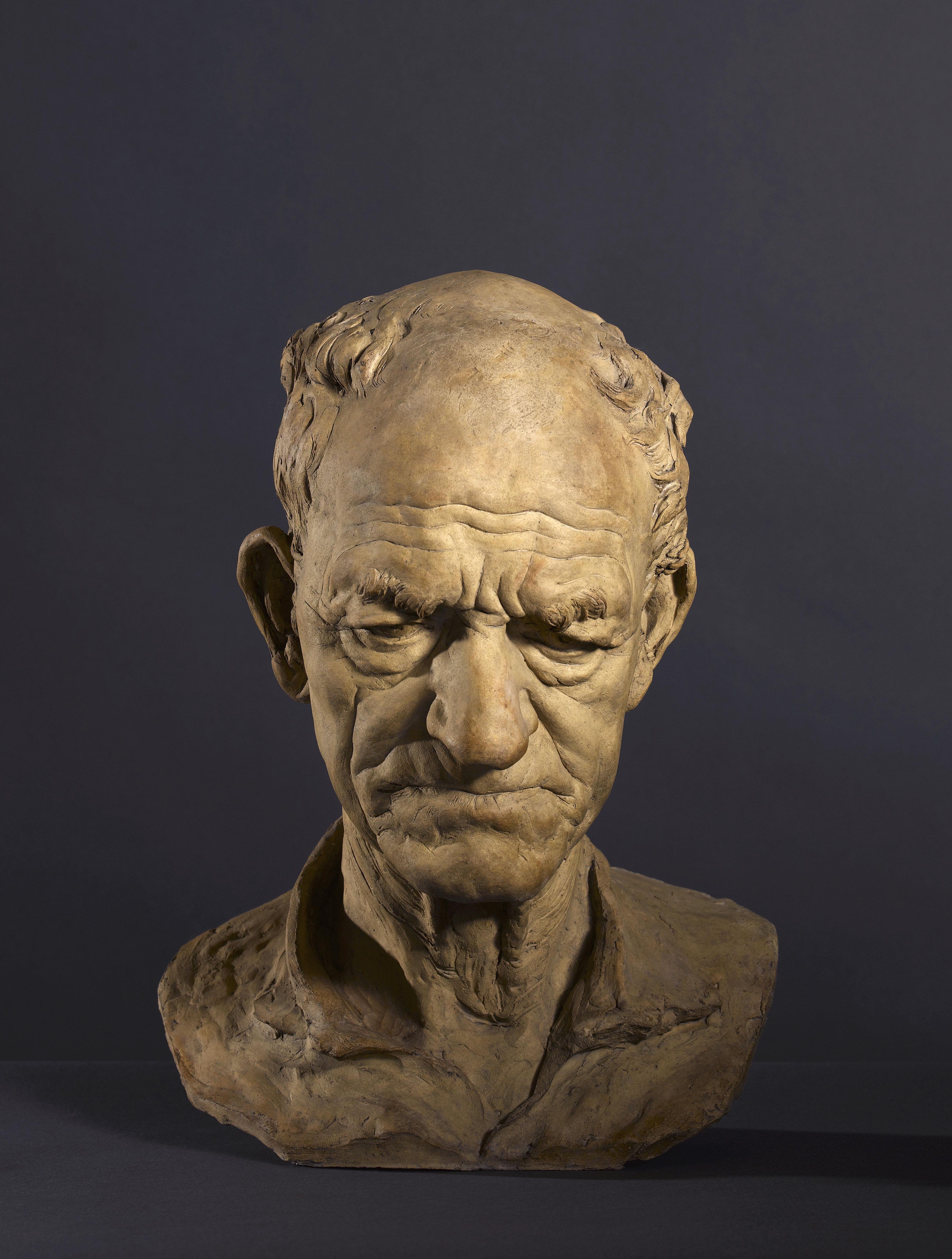 Aimé Jules Dalou - Peasant's head