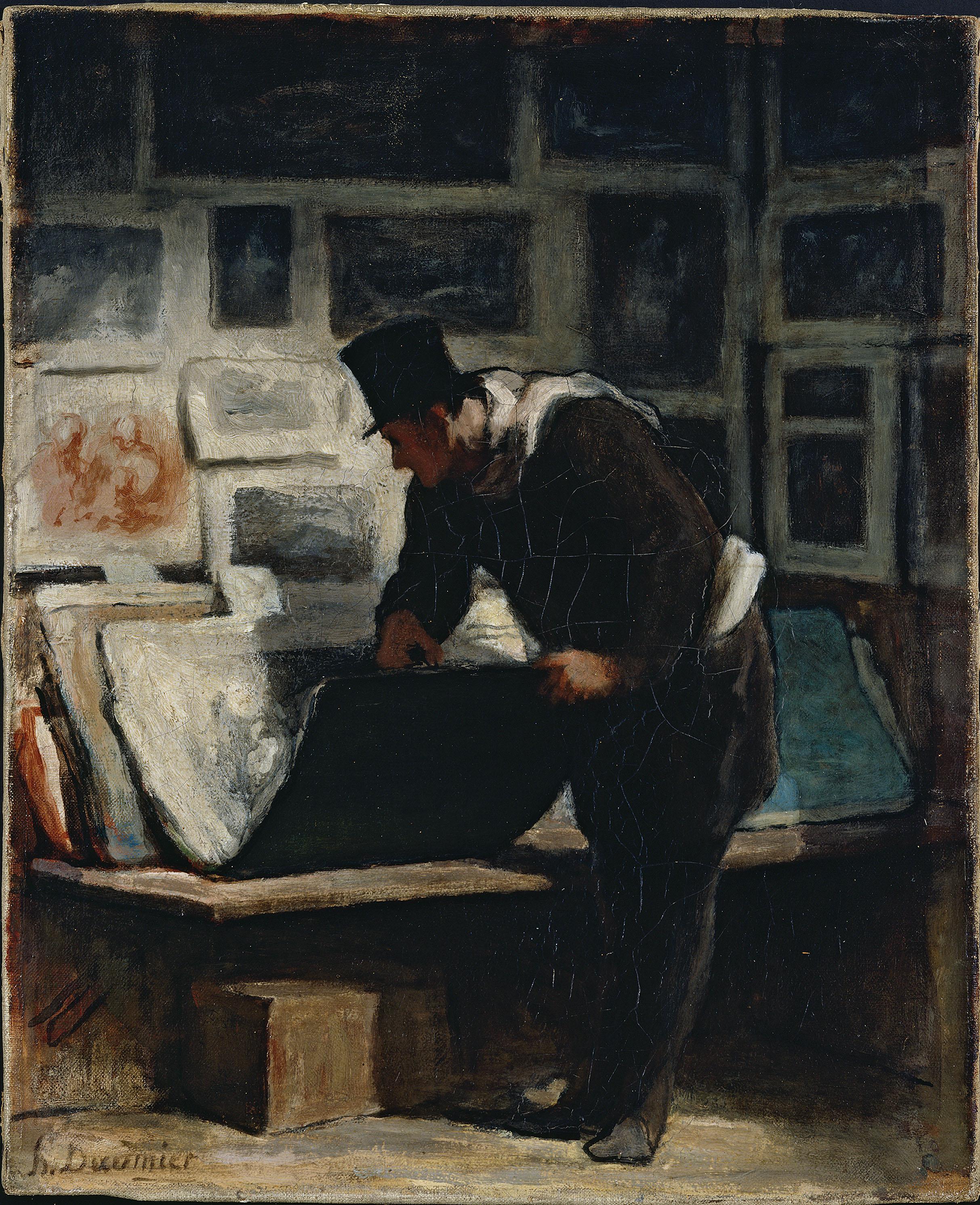 Honoré Daumier - L'amateur d'estampes