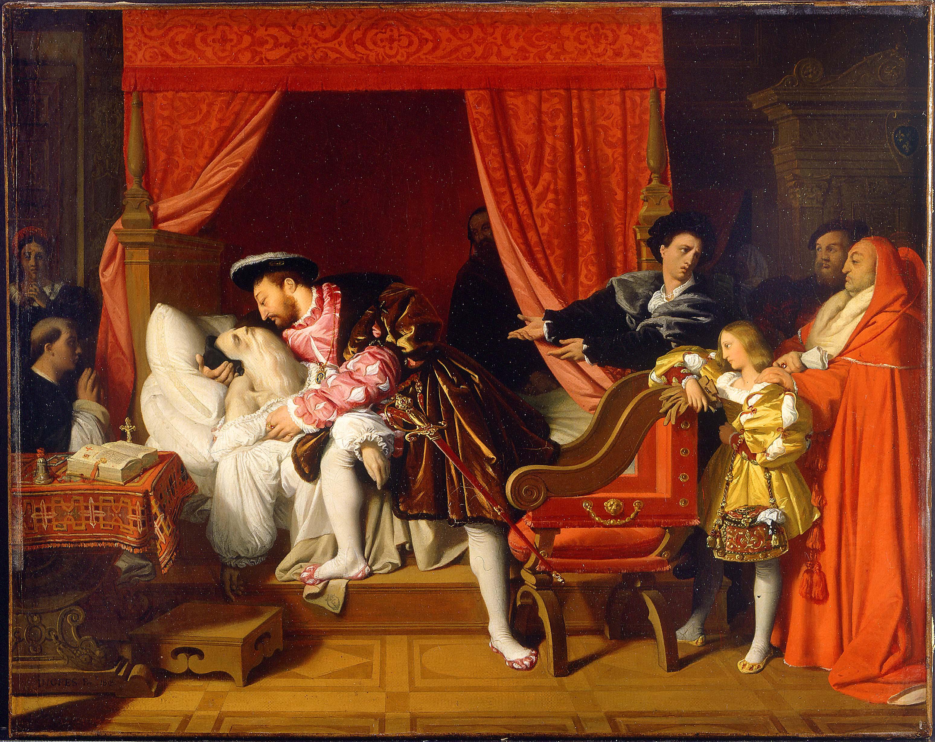 Ingres - François 1er reçoit les derniers soupirs de Léonard de Vinci