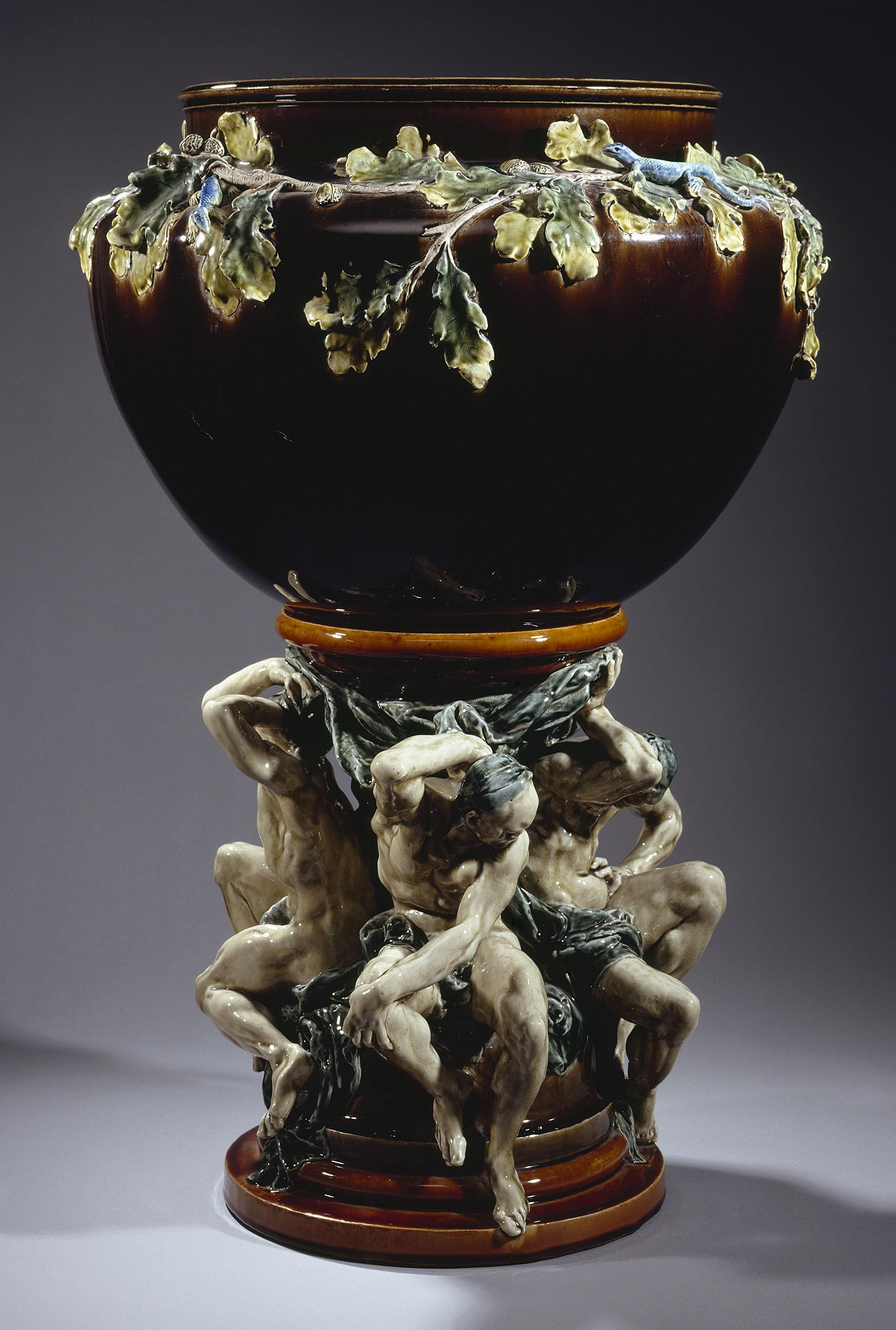 """The """"Titans"""" Jardinière  - Auguste Rodin et Albert Carrier-Belleuse"""