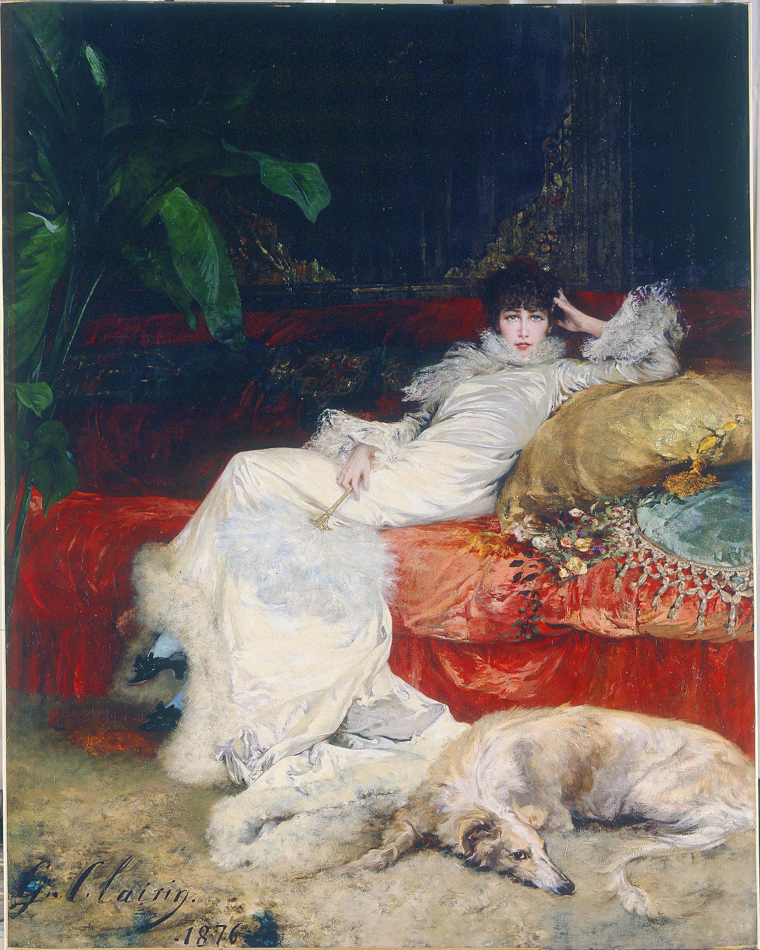 Georges Clairin - Portrait of Sarah Bernhardt