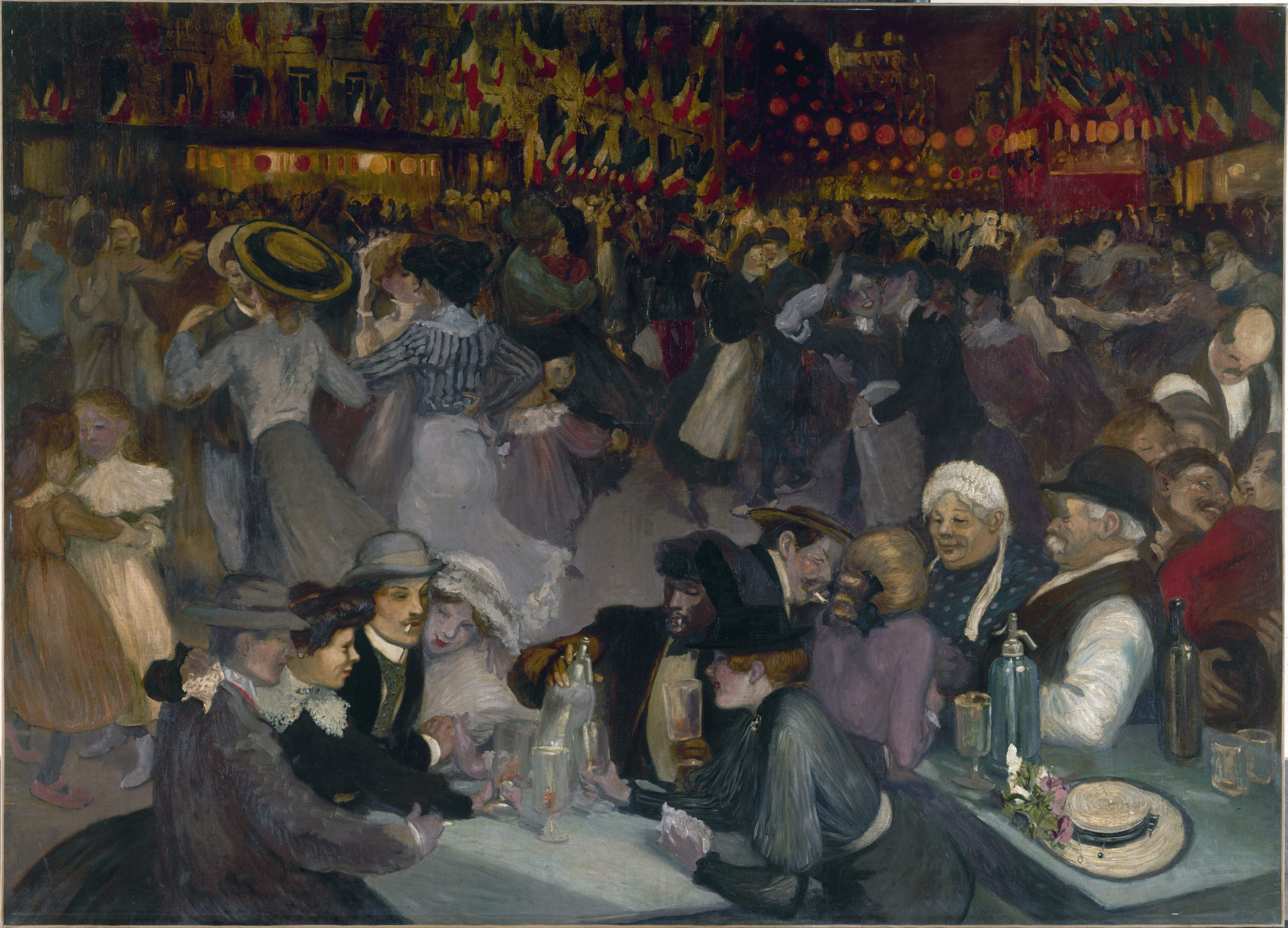 Théophile Alexandre Steinlen : Ball on the 14th of July