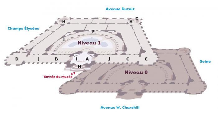 Plan du Petit Palais