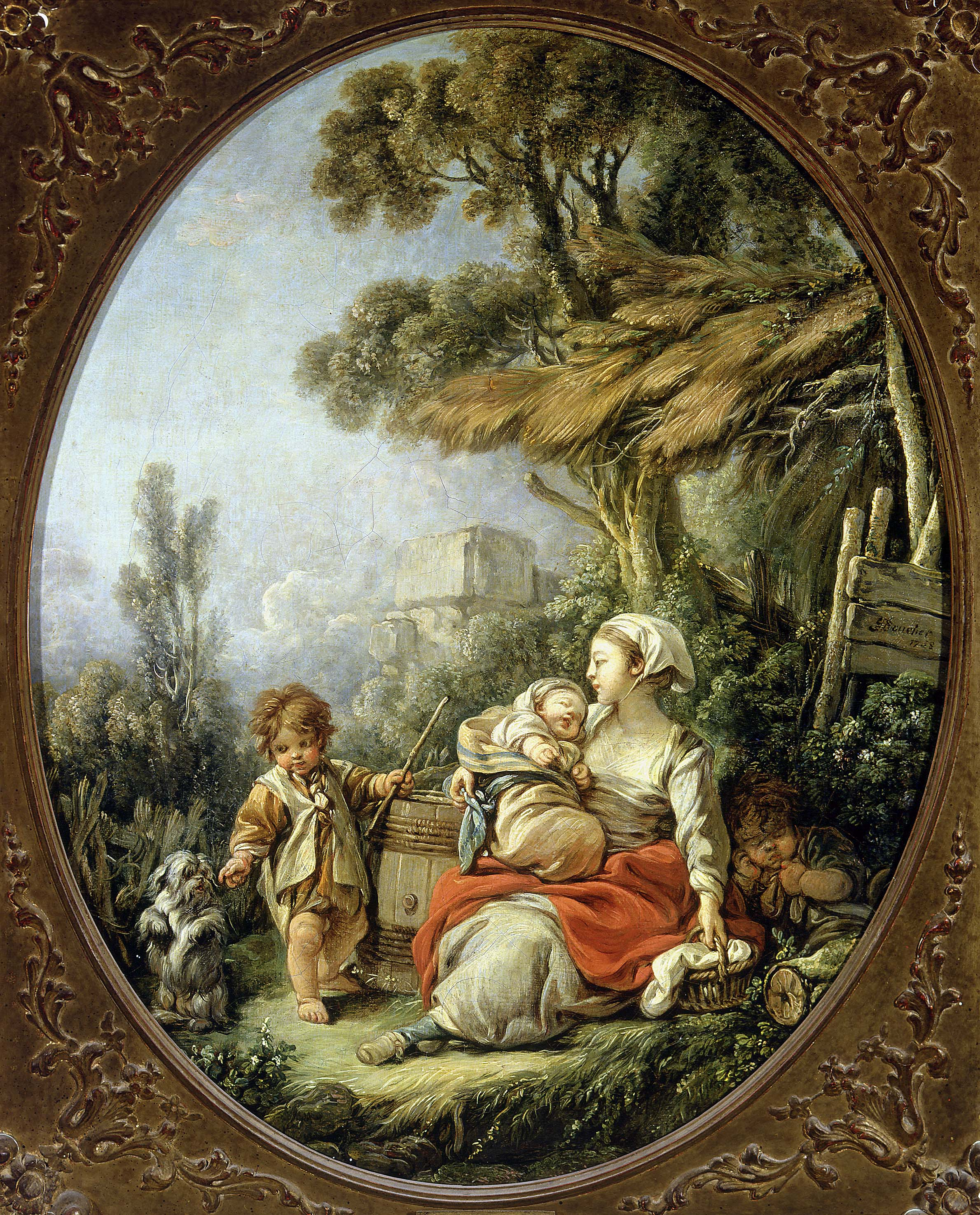 François Boucher - The little dog's dance