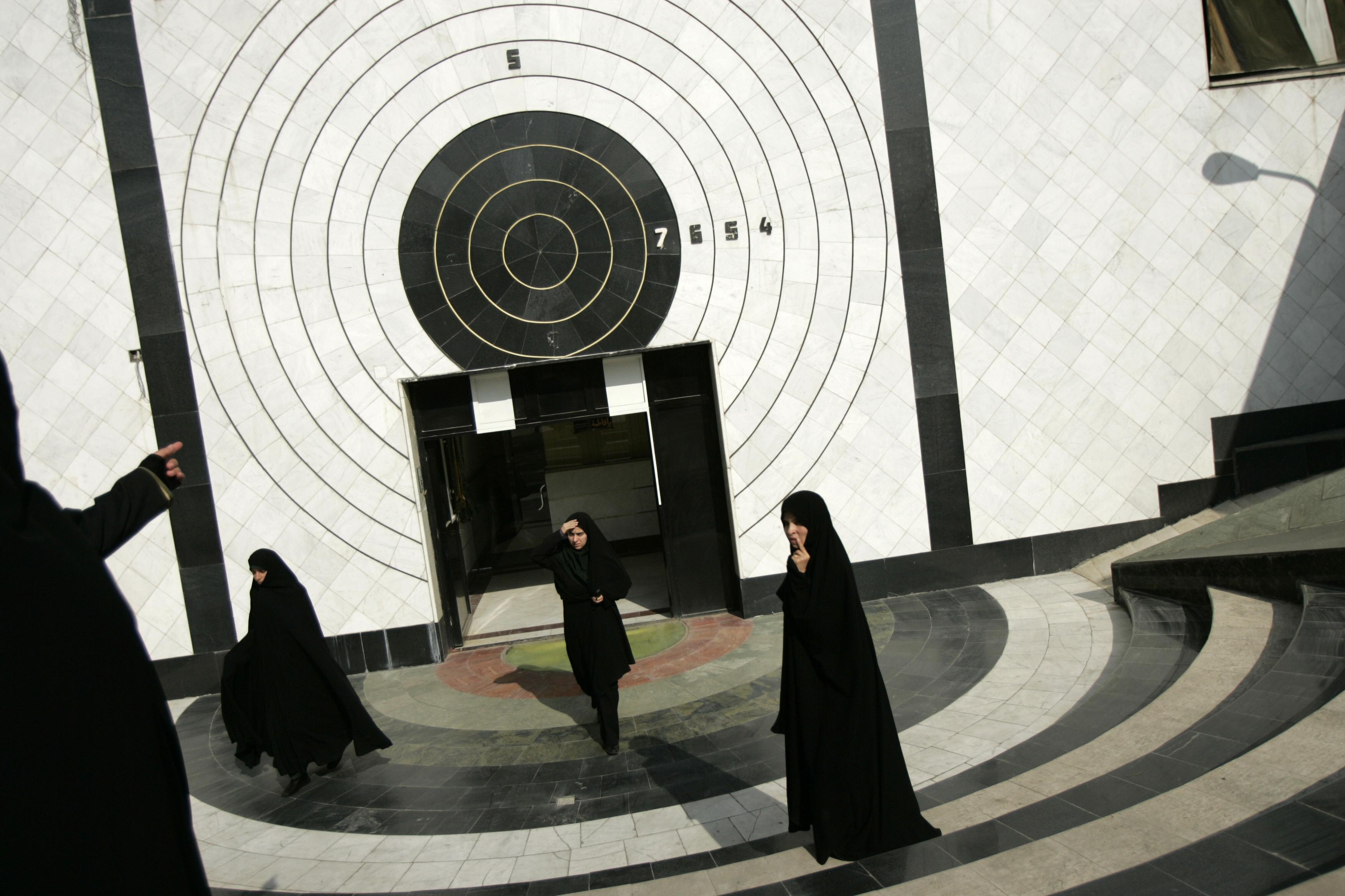 Camp d'entrainement au tir à l'académie de police des femmes à Téhéran