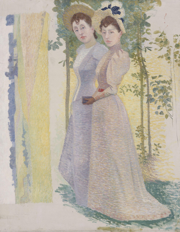 deux nus dans un paysage recto deux femmes en chapeau et tude de paysage verso petit palais. Black Bedroom Furniture Sets. Home Design Ideas