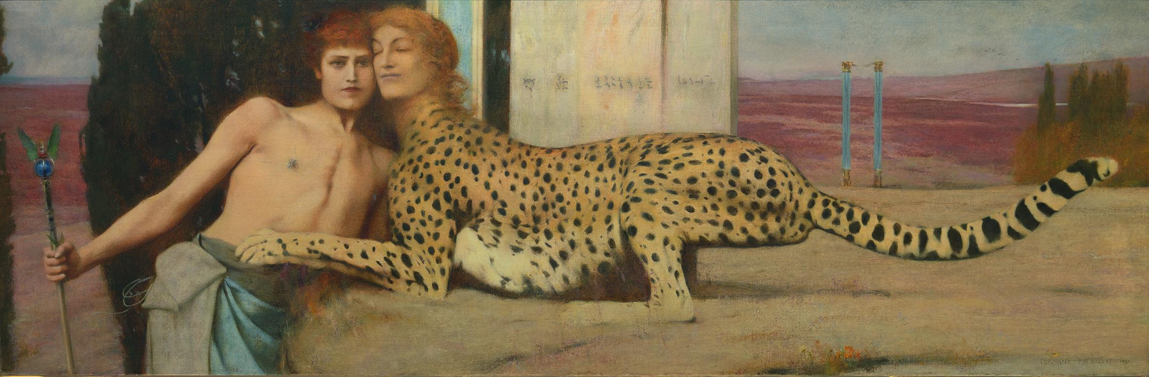 """Résultat de recherche d'images pour """"fernand khnopff, l'art ou des caresses, petit palais"""""""