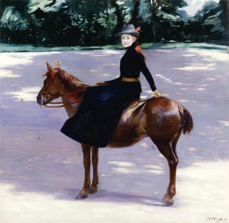 Jacques-Emile Blanche, Mademoiselle Meuriot sur son poney