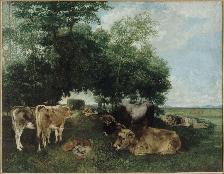 Gustave Courbet - La sieste pendant la saison des foins (montagne du Doubs)