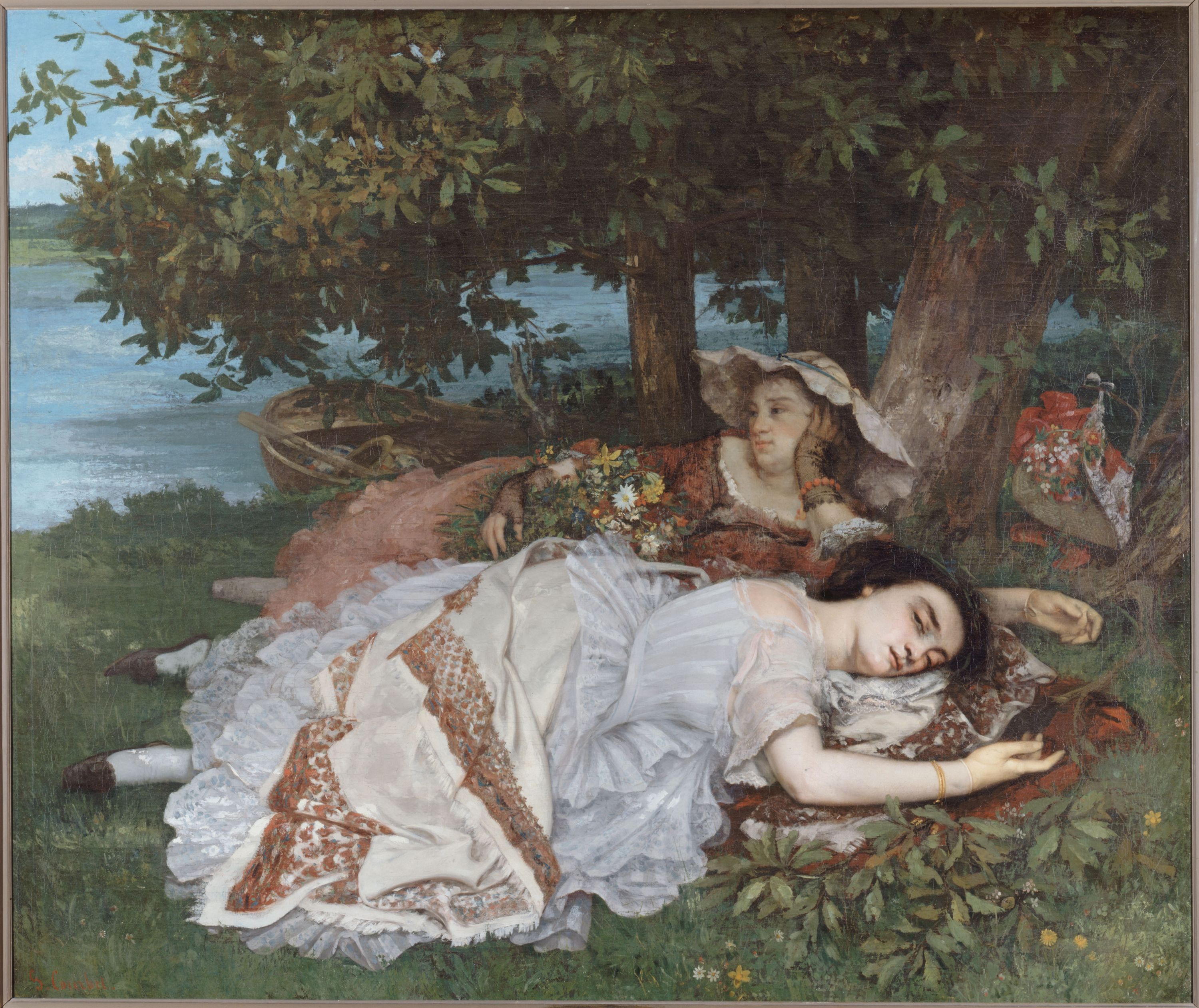 Gustave Courbet - Young Ladies on the Banks of the Seine