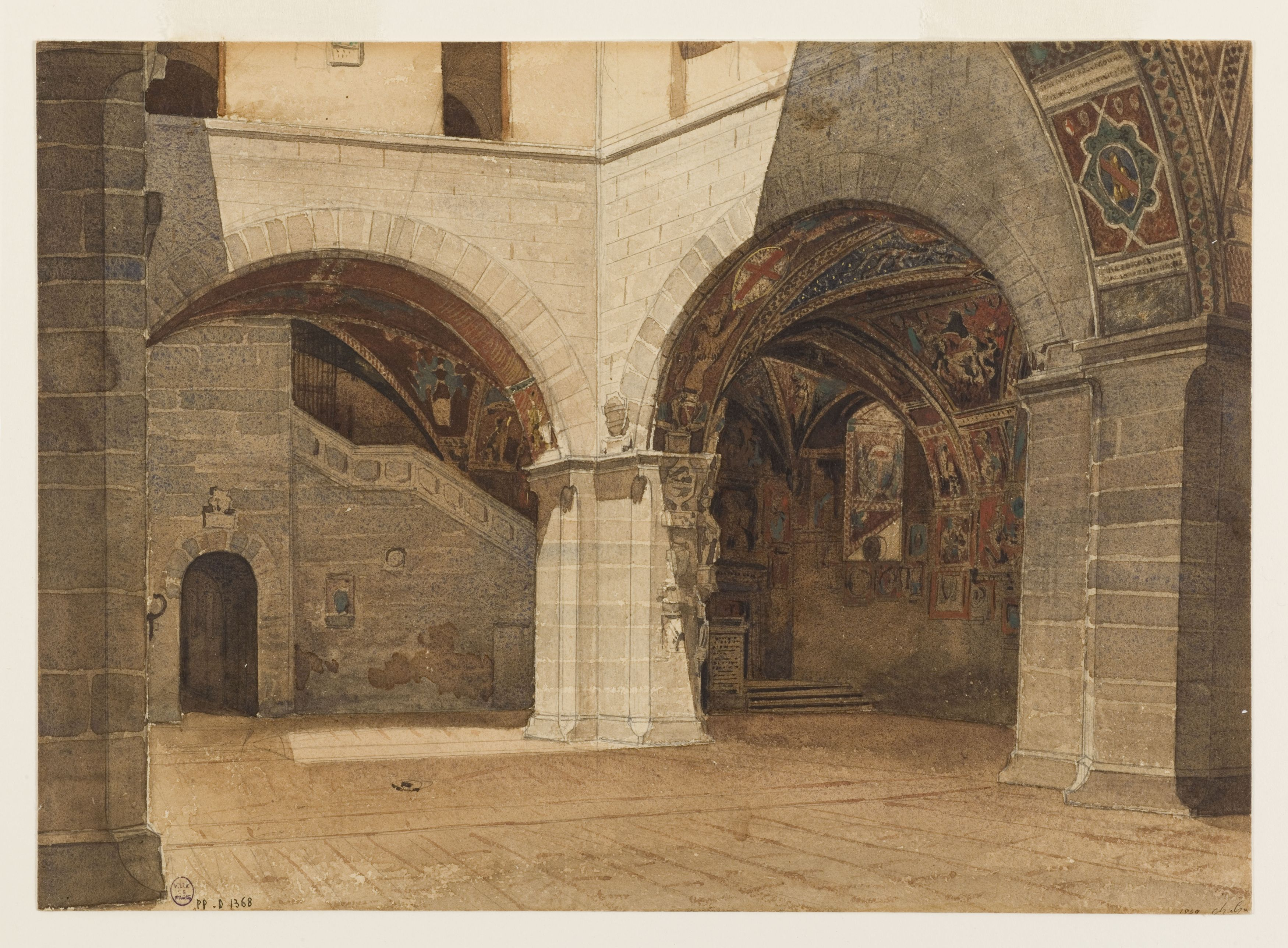 Charles Garnier - The Courtyard of the Bargello Palace in Florence