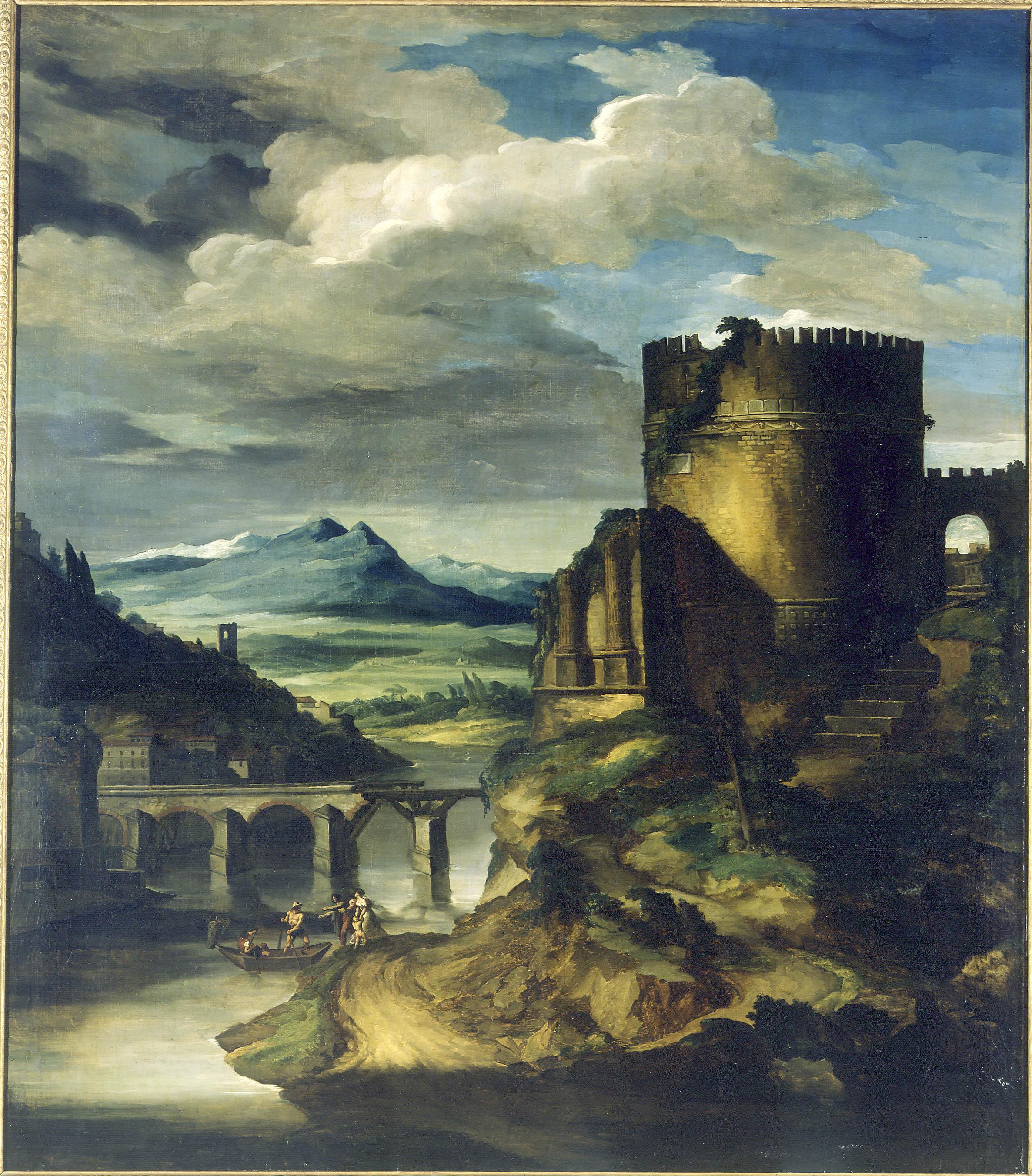 Théodore Géricault - Paysage au tombeau