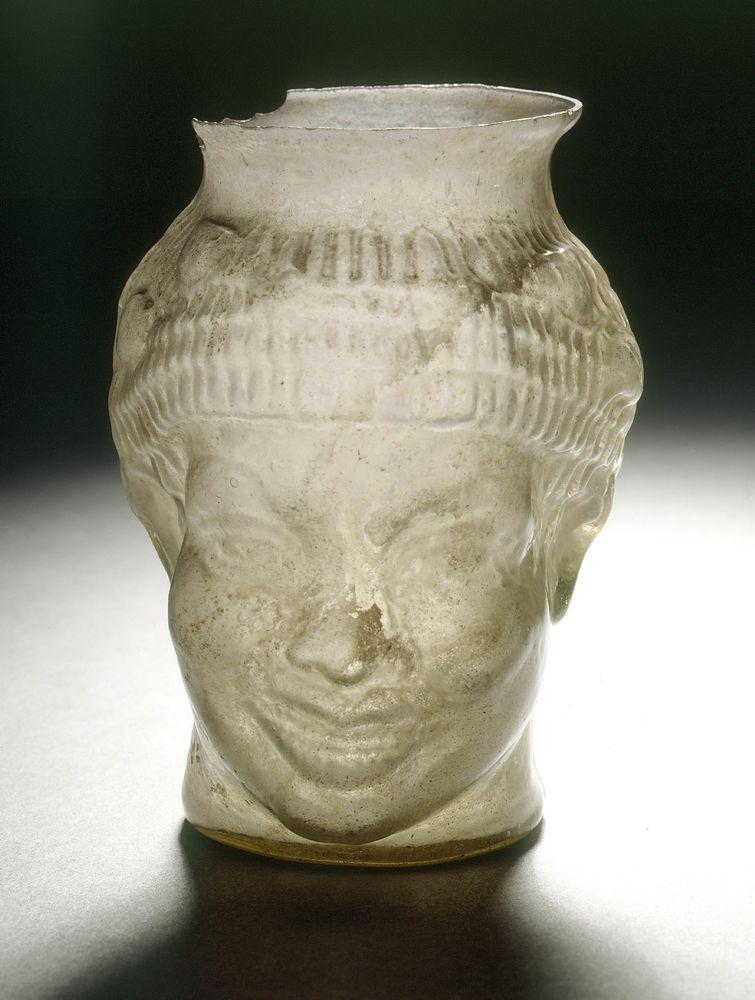 Tryphon - Gobelet en forme de tête de nègre souriant