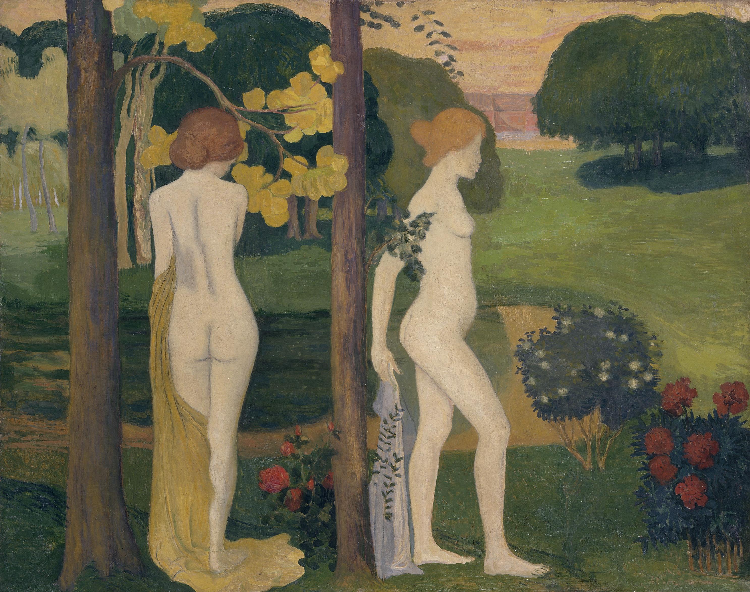 Maillol - Deux nus dans un paysage