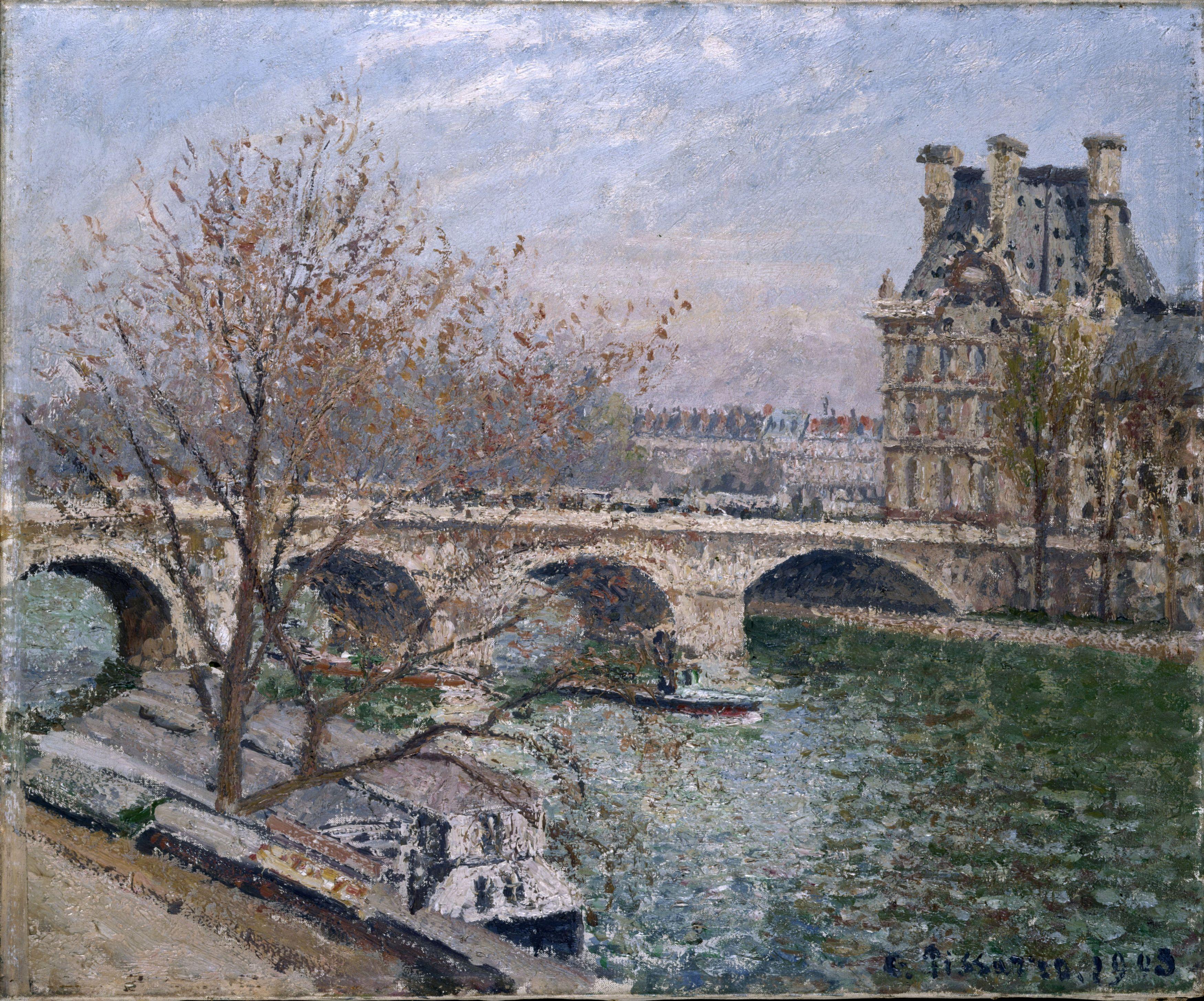 Le Pont Royal et le Pavillon de Flore de Camille Pissaro