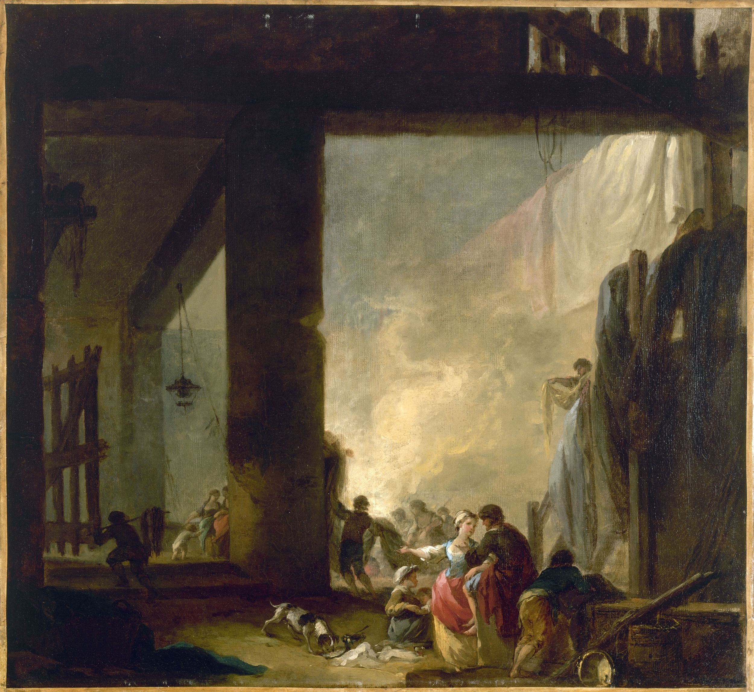 Hubert Robert - The Laundry
