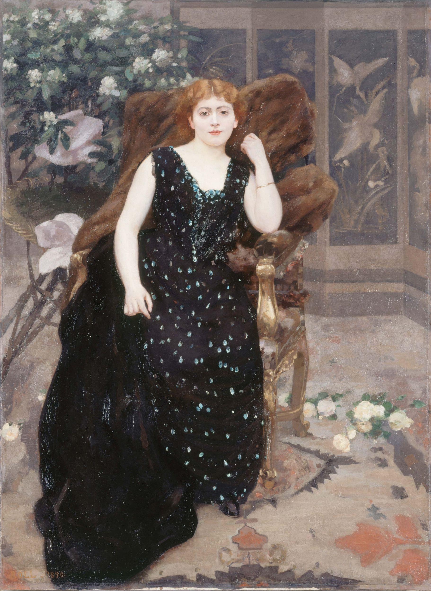 Alfred Roll - Portrait de Jane Hading