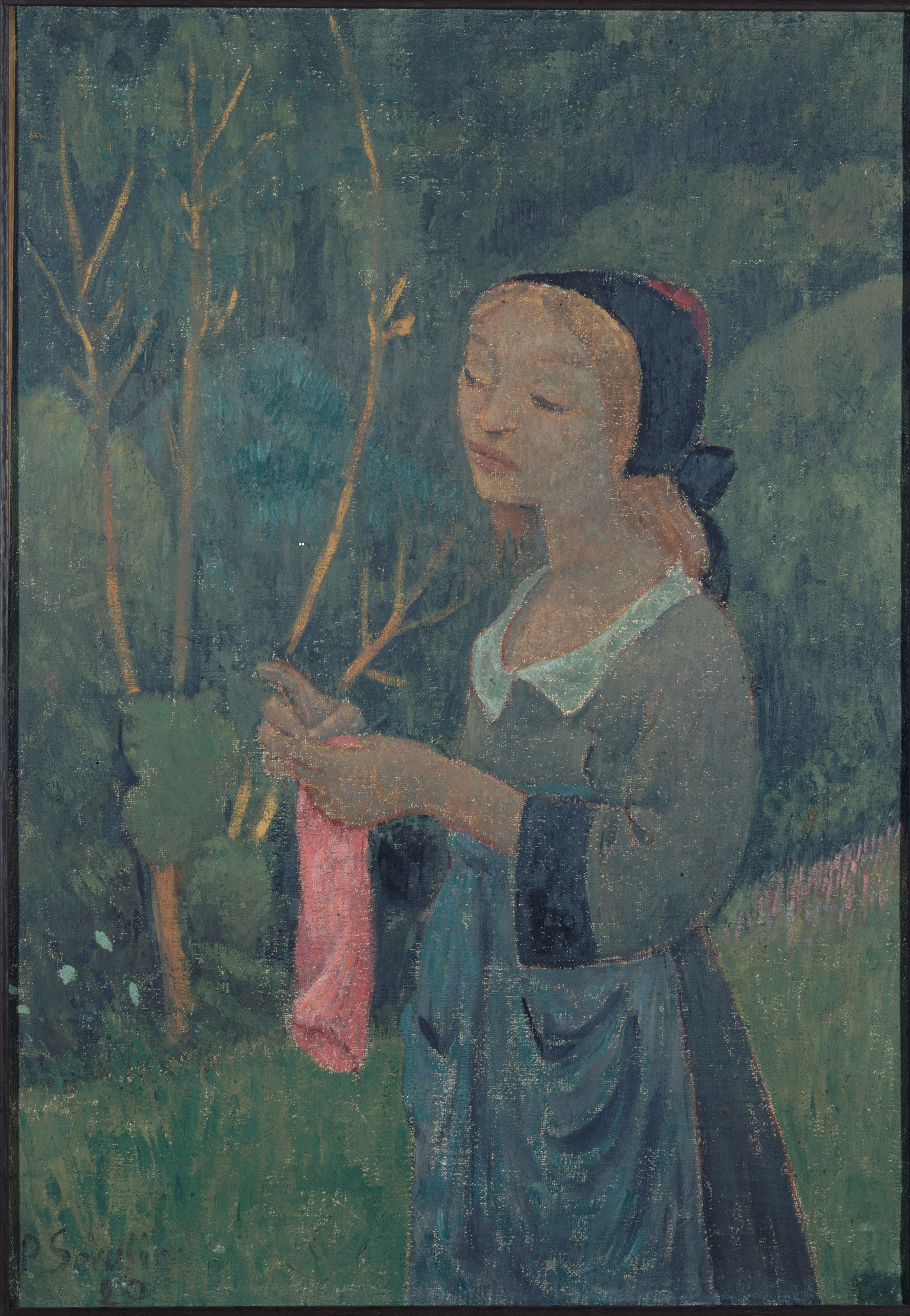 Paul Sérusier - Tricoteuse au bas rose