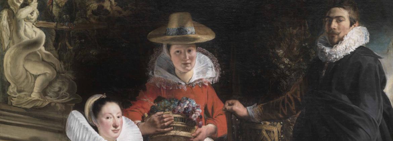 Jacques Jordaens (1593-1678) Autoportrait de l'artiste avec sa femme Catharina van Noort, leur fille Elisabeth et une servante dans un jardin, 1621-1622 Huile sur toile © Madrid, Musée national du Prado