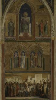 Flandrin, Esquisse pour la composition d'ensemble du décor du mur gauche de l'église Saint-Germain des Prés