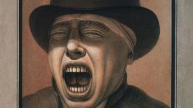 Jean-Jacques Lequeu. Le grand bailleur. Plume, encre et lavis, 34,4 x 23,4 cm. Paris, BNF © BNF