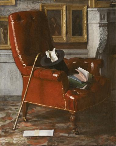 Gigoux, Un coin de salon chez le peintre