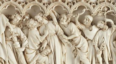 Retable : scènes de la vie et de la Passion du Christ