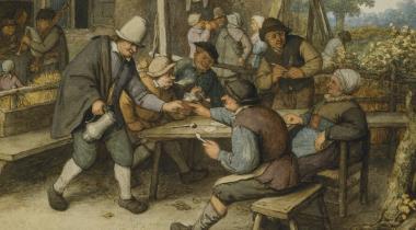 Fumeurs et buveurs attablés sous une treille  (Lugt 56)