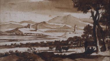 Paysage de la campagne de Rome, vue de Prato Longo