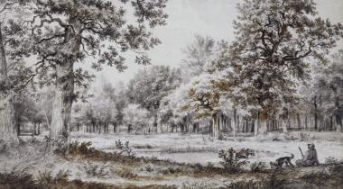 Chasseur près d'un étang, dans une clairière (Lugt 79)