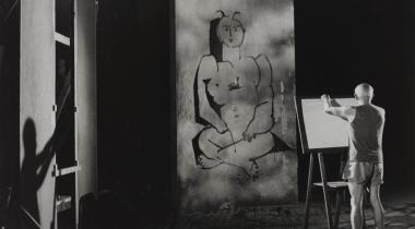 Andre Villers : Picasso au travailAndré Villers (1930), Picasso au travail. Tirage gélatino argentique, 1955. Phot