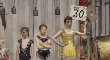 Grimaces et Misère - les saltimbanques, Salon de 1888