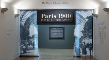 : Installation view of Paris 1900: City of Entertainment at the Cincinnati Art Museum. Photograph by Leigh Vukov