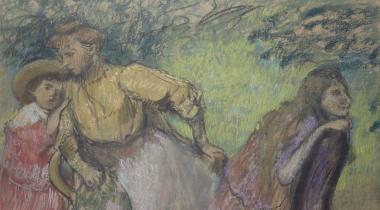 Degas, Madame Alexis Rouart et ses enfants, PPD3021