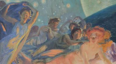 Albert Besnard (1849-1934), La Vérité entraînant les Sciences à sa suite répand sa lumière sur les hommes
