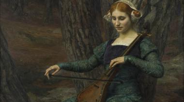 Maxence, Jeune femme jouant de la mandore ou Solitude