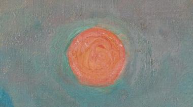 Monet, Soleil couchant à Lavacourt : détail en gigapixels