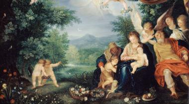 Le Repos de la Sainte Famille pendant la fuite en Égypte