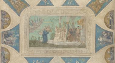 Puvis de Chavannes, Esquisse pour l'Hôtel de Ville de Paris : Hommage de la Ville de Paris à Victor Hugo