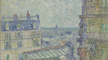 Vincent Van Gogh, Vue depuis l'appartement de Théo, 1887. Huile sur toile, 45,9 x 38,1 cm. Amsterdam, Van Gogh Museum
